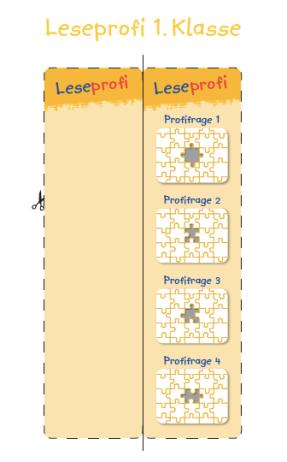 Leseprofi Lesezeichen 1. Klasse